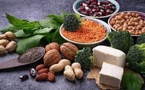 Các nguồn thực phẩm giàu protein cho người ăn chay.
