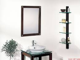 Cách lắp đặt kệ kính nhà tắm tiết kiệm không gian.